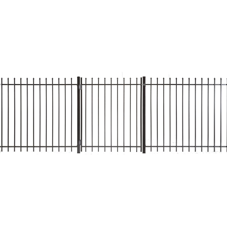 Lafayette Powder Coated Steel Decorative Fence Gate (Common: 4-ft x 5-ft; Actual: 3.66-ft x 4.83-ft)