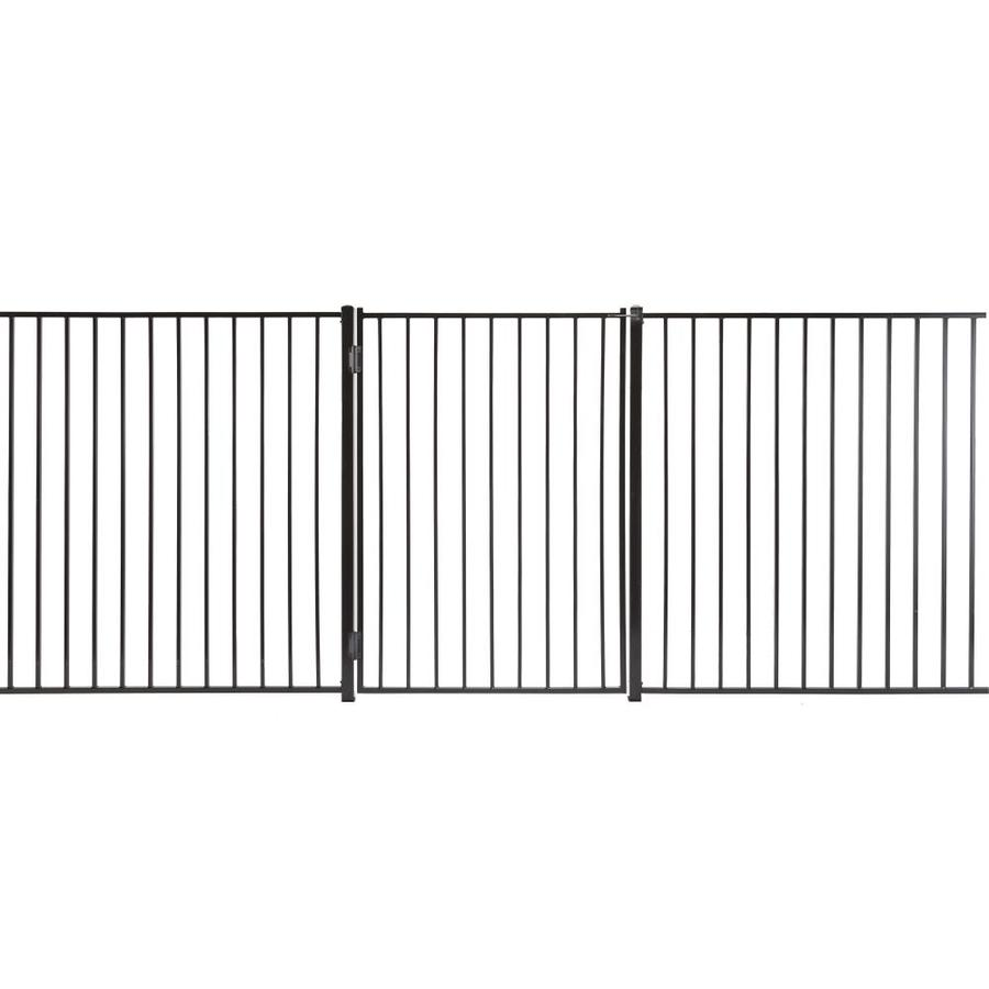 Monroe Powder Coated Steel Decorative Fence Gate (Common: 3-ft x 5-ft; Actual: 2.66-ft x 4.83-ft)