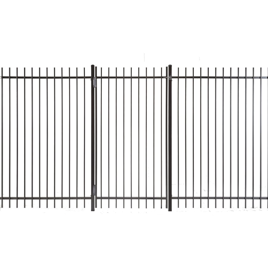 Kent Powder Coated Steel Decorative Fence Gate (Common: 3-ft x 6-ft; Actual: 2.66-ft x 5.83-ft)