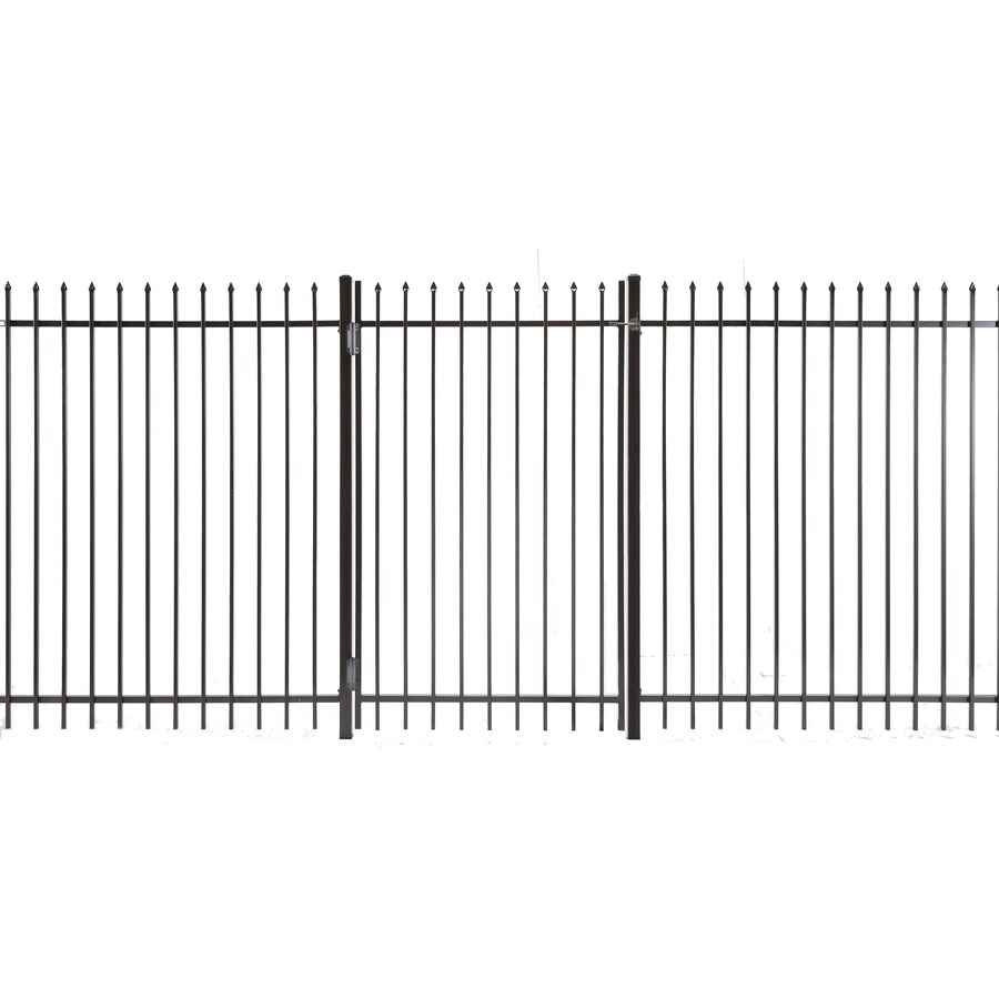 Lafayette Powder Coated Steel Decorative Fence Gate (Common: 3-ft x 5-ft; Actual: 2.66-ft x 4.83-ft)