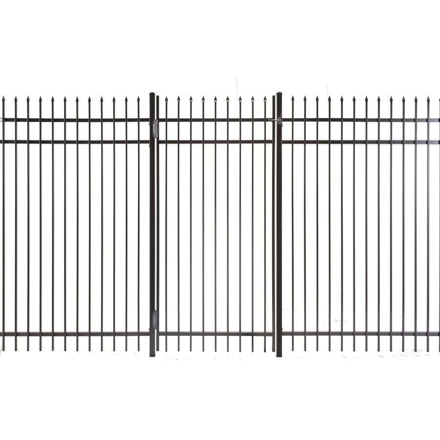 Lafayette Powder Coated Steel Decorative Fence Gate (Common: 3-ft x 6-ft; Actual: 2.66-ft x 5.83-ft)