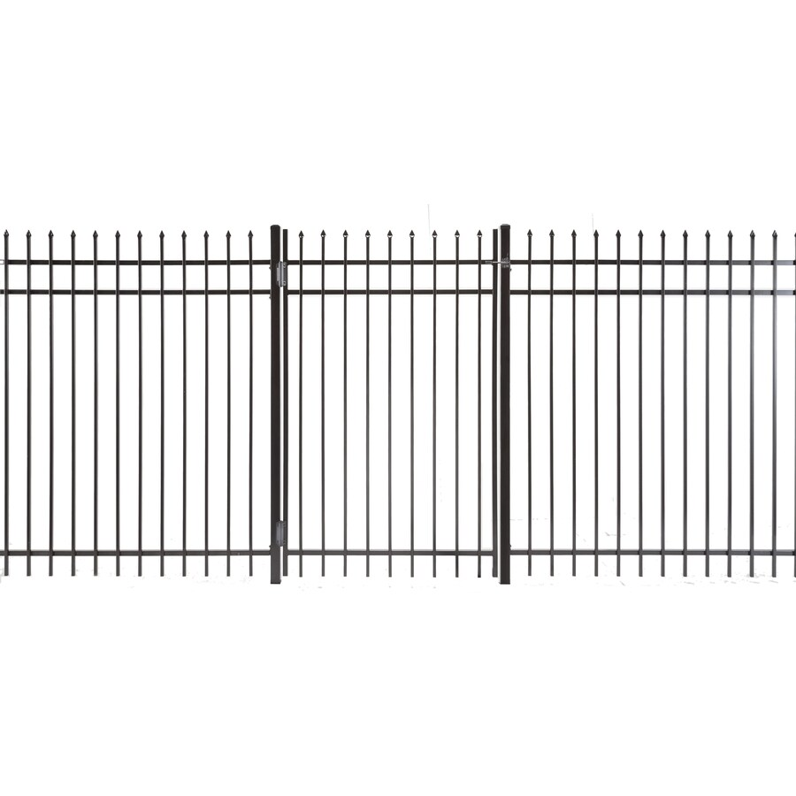 Lafayette Powder Coated Steel Decorative Fence Gate (Common: 4-ft x 6-ft; Actual: 3.66-ft x 5.83-ft)