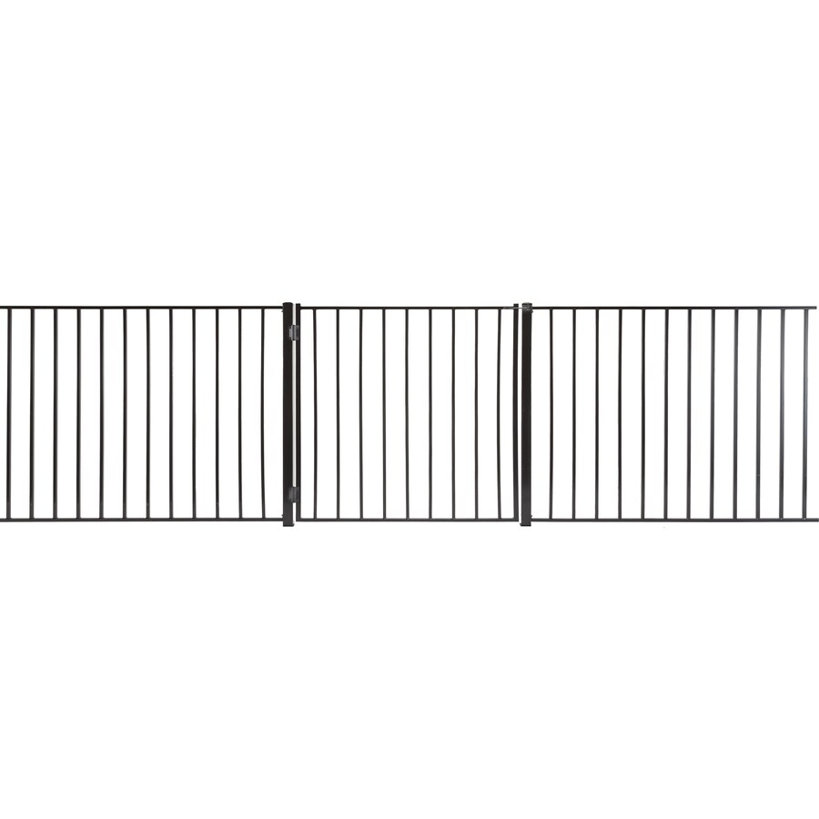 Monroe Powder Coated Steel Decorative Fence Gate (Common: 3-ft x 3-ft; Actual: 2.66-ft x 2.66-ft)