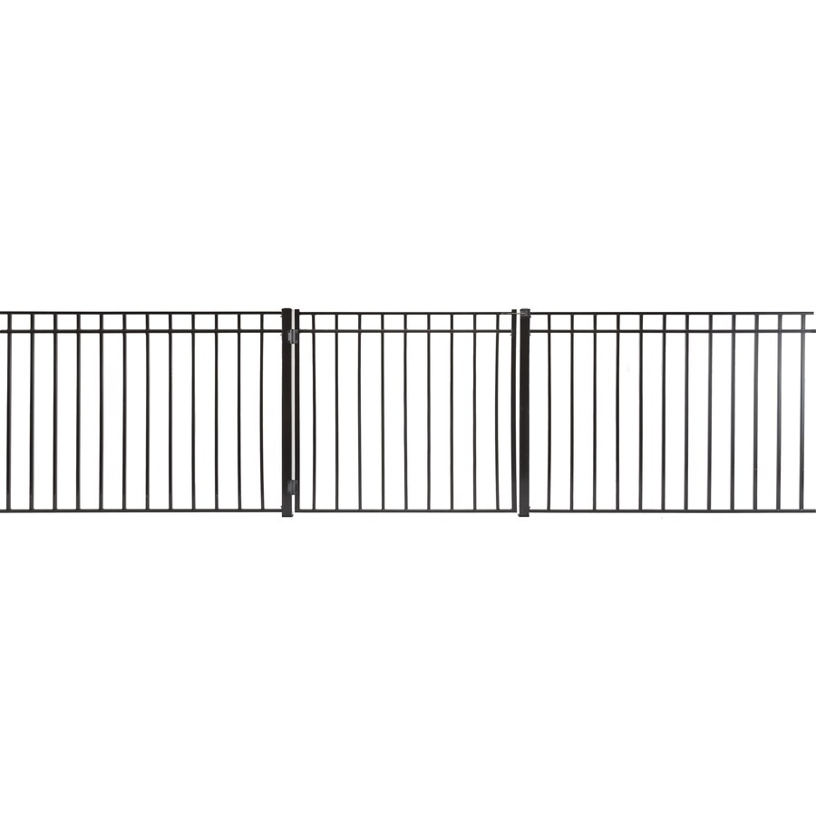 Monroe Powder Coated Steel Decorative Fence Gate (Common: 3.5-ft x 3-ft; Actual: 3.16-ft x 2.66-ft)
