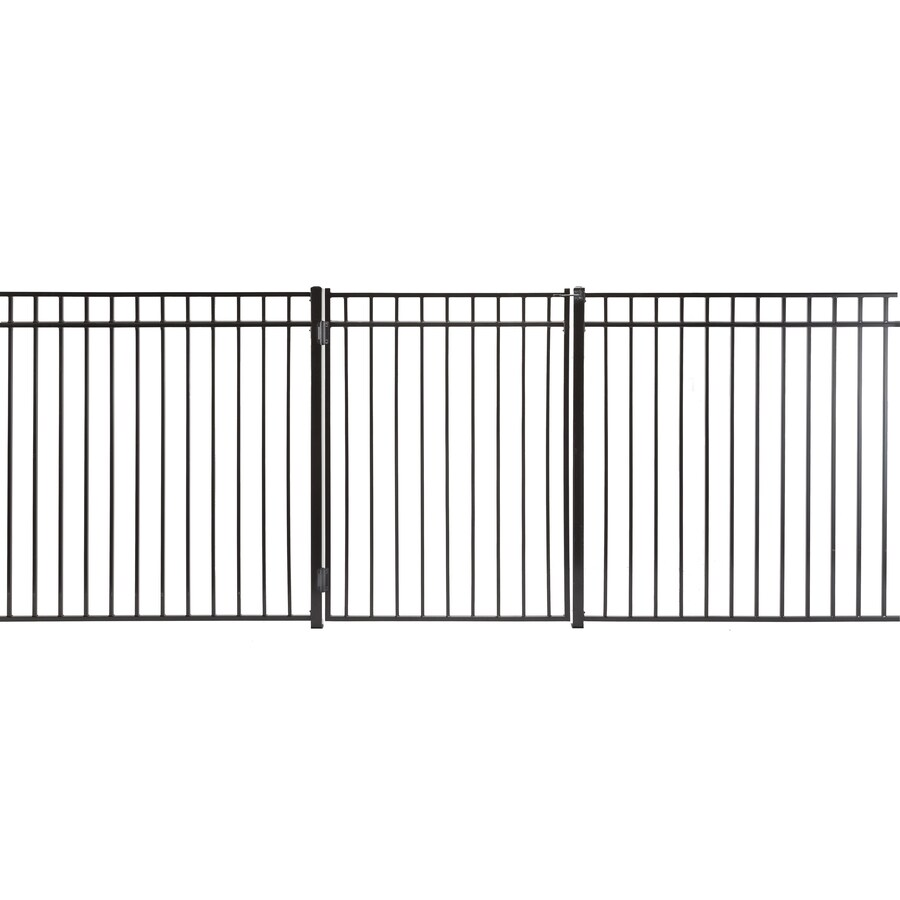 Monroe Powder Coated Steel Decorative Fence Gate (Common: 4-ft x 5-ft; Actual: 3.66-ft x 4.83-ft)