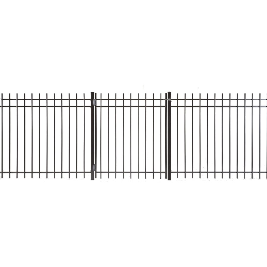Kent Powder Coated Steel Decorative Fence Gate (Common: 4-ft x 5-ft; Actual: 3.66-ft x 4.83-ft)