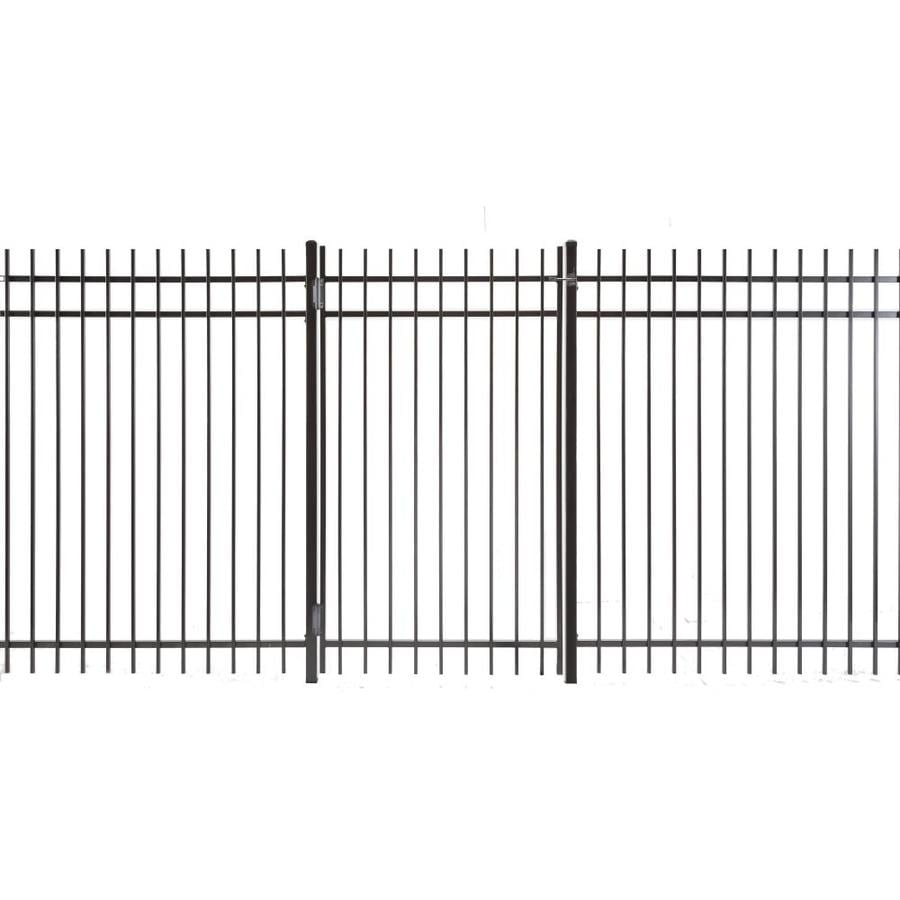 Kent Powder Coated Steel Decorative Fence Gate (Common: 3.5-ft x 6-ft; Actual: 3.16-ft x 5.83-ft)