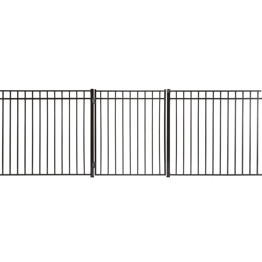 Monroe Powder Coated Steel Decorative Fence Gate (Common: 3-ft x 4-ft; Actual: 2.66-ft x 3.66-ft)