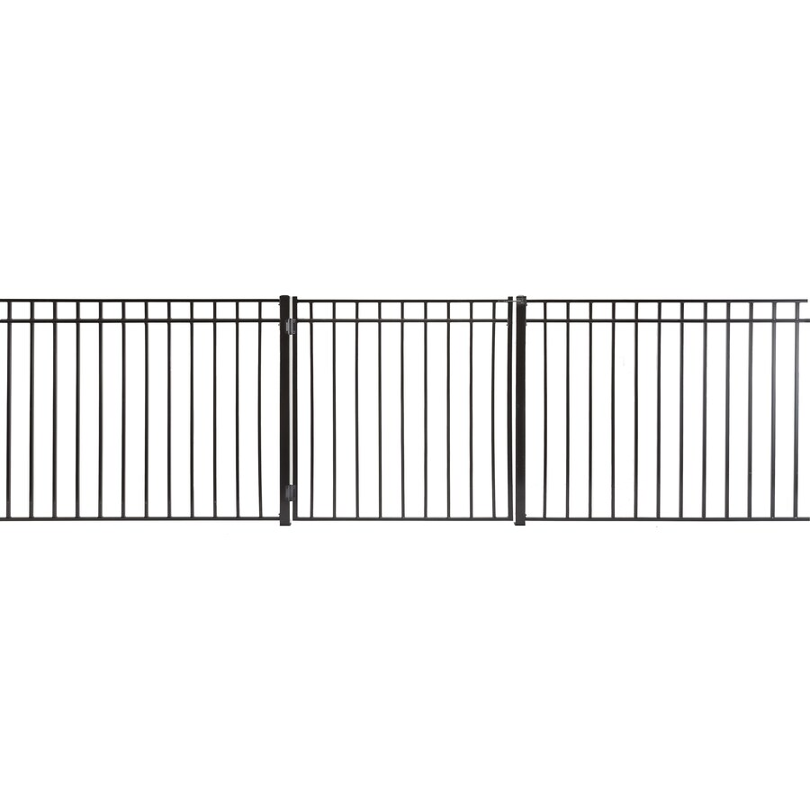 Monroe Powder Coated Steel Decorative Fence Gate (Common: 4-ft x 4-ft; Actual: 3.66-ft x 3.66-ft)