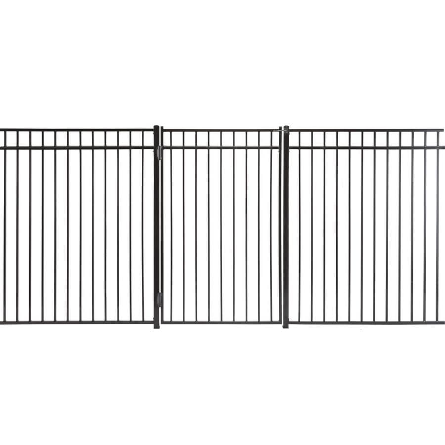 Monroe Powder Coated Steel Decorative Fence Gate (Common: 3.5-ft x 6-ft; Actual: 3.16-ft x 5.66-ft)