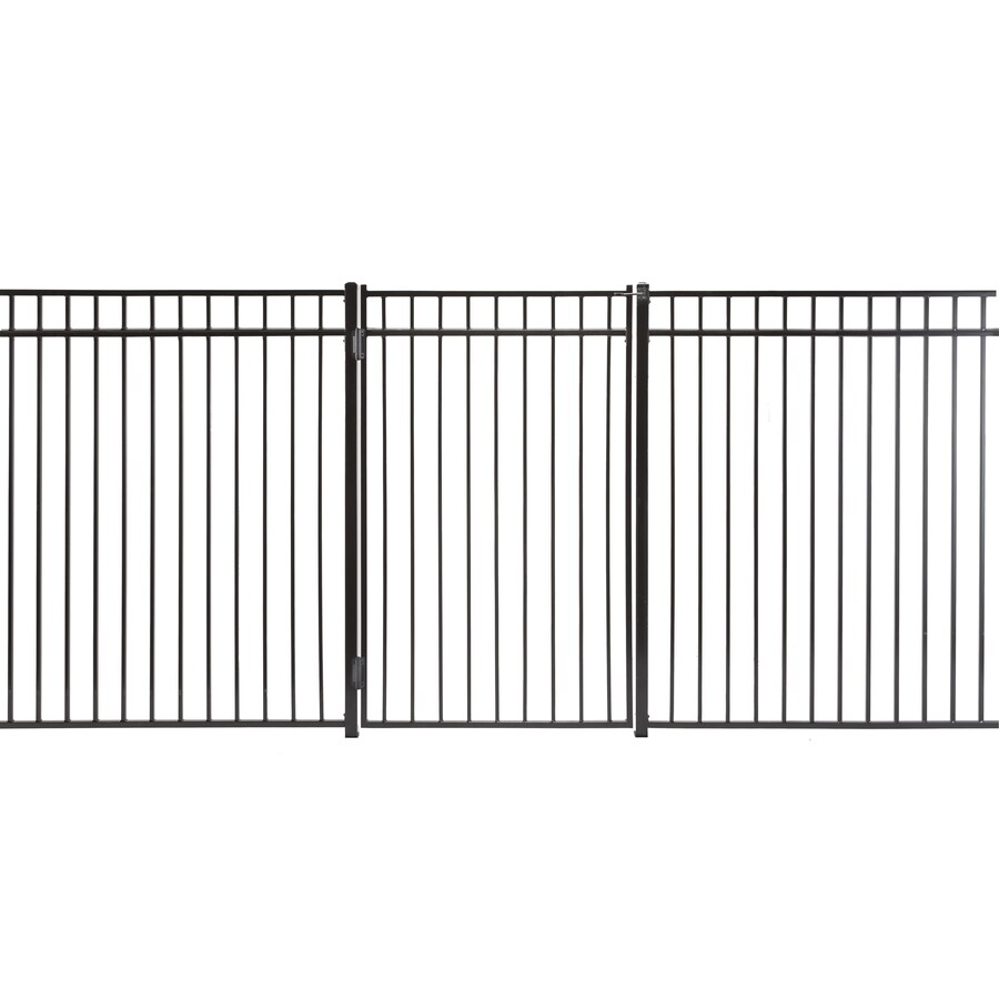 Monroe Powder Coated Steel Decorative Fence Gate (Common: 4-ft x 6-ft; Actual: 3.66-ft x 5.66-ft)