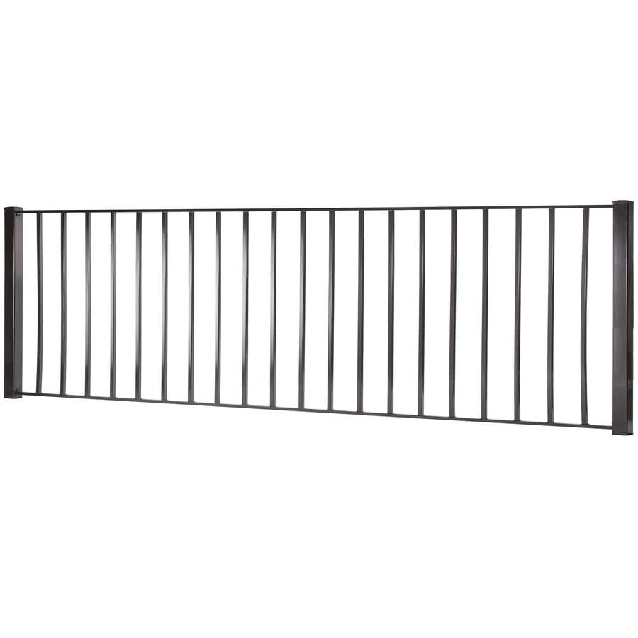 Monroe Black Steel Decorative Metal Fence Panel (Common: 8-ft x 3-ft; Actual: 7.97-ft x 2.88-ft)