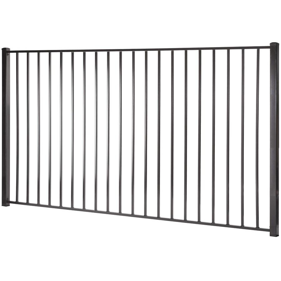 Monroe Black Steel Decorative Metal Fence Panel (Common: 8-ft x 5-ft; Actual: 7.97-ft x 4.96-ft)