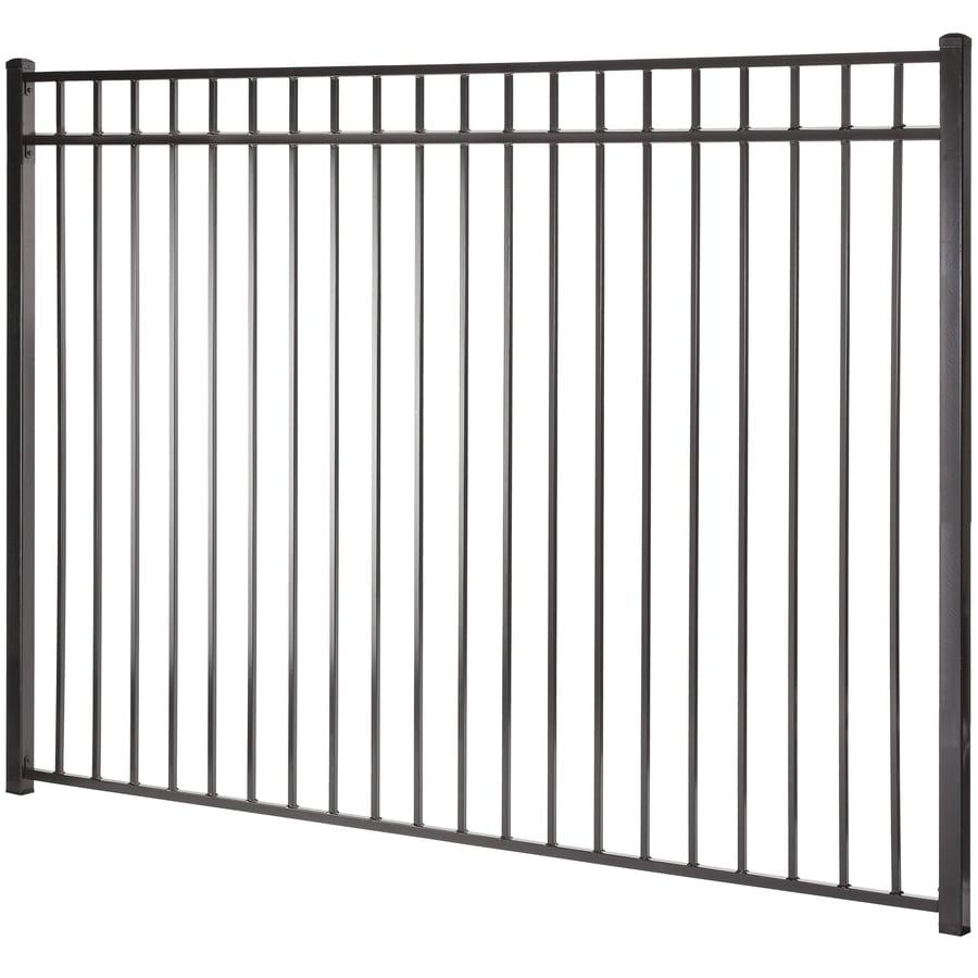 Shop Monroe Black Steel Decorative Metal Fence Panel