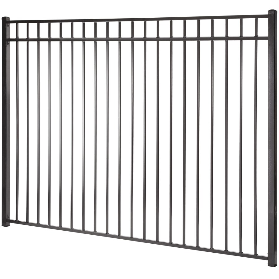 Monroe Black Steel Decorative Metal Fence Panel (Common: 8-ft x 6-ft; Actual: 7.97-ft x 5.94-ft)