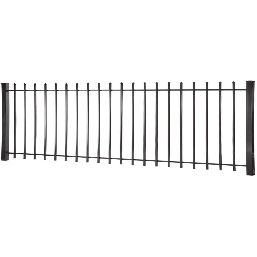 Lafayette Black Steel Decorative Metal Fence Panel (Common: 8-ft x 3-ft; Actual: 7.97-ft x 2.94-ft)