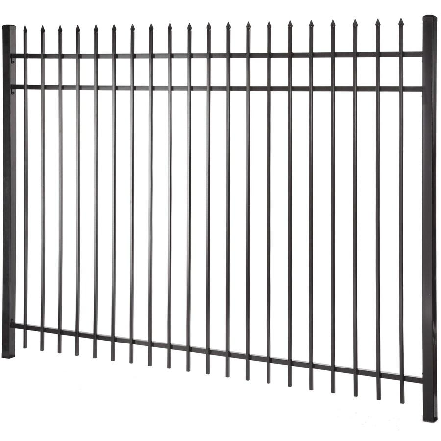 Lafayette Black Steel Decorative Metal Fence Panel (Common: 8-ft x 6-ft; Actual: 7.97-ft x 5.97-ft)