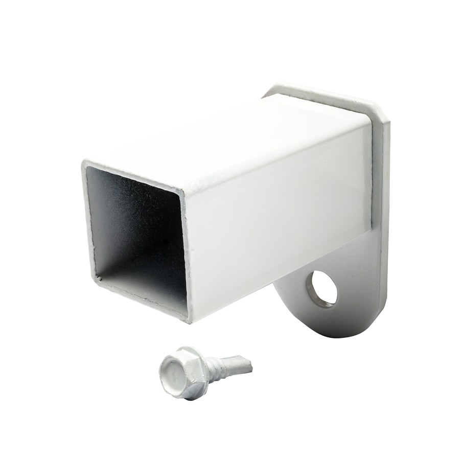 8-Pack White Steel Fence Fence Mounting Brackets