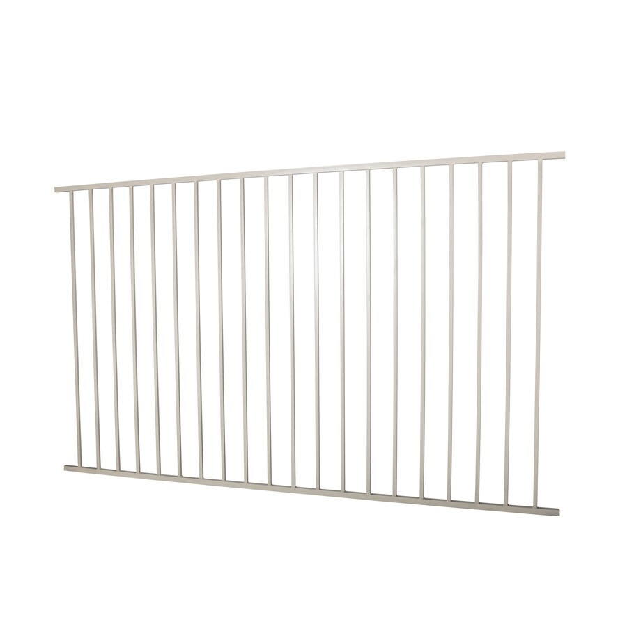 Monroe Navajo White Steel Decorative Metal Fence Panel (Common: 8-ft x 5-ft; Actual: 7.97-ft x 4.96-ft)