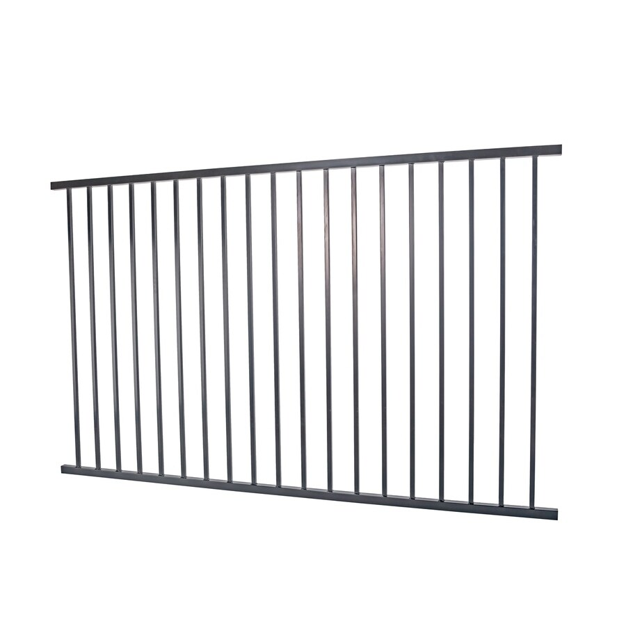Monroe Black Steel Decorative Metal Fence Panel (Common: 8-ft x 5-ft; Actual: 7.95-ft x 4.96-ft)