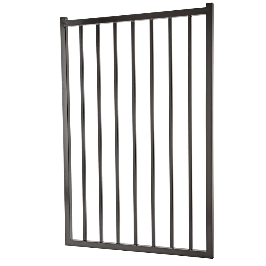 Powder Coated Steel Decorative Fence Gate (Common: 3.5-ft x 5-ft; Actual: 3.25-ft x 4.83-ft)