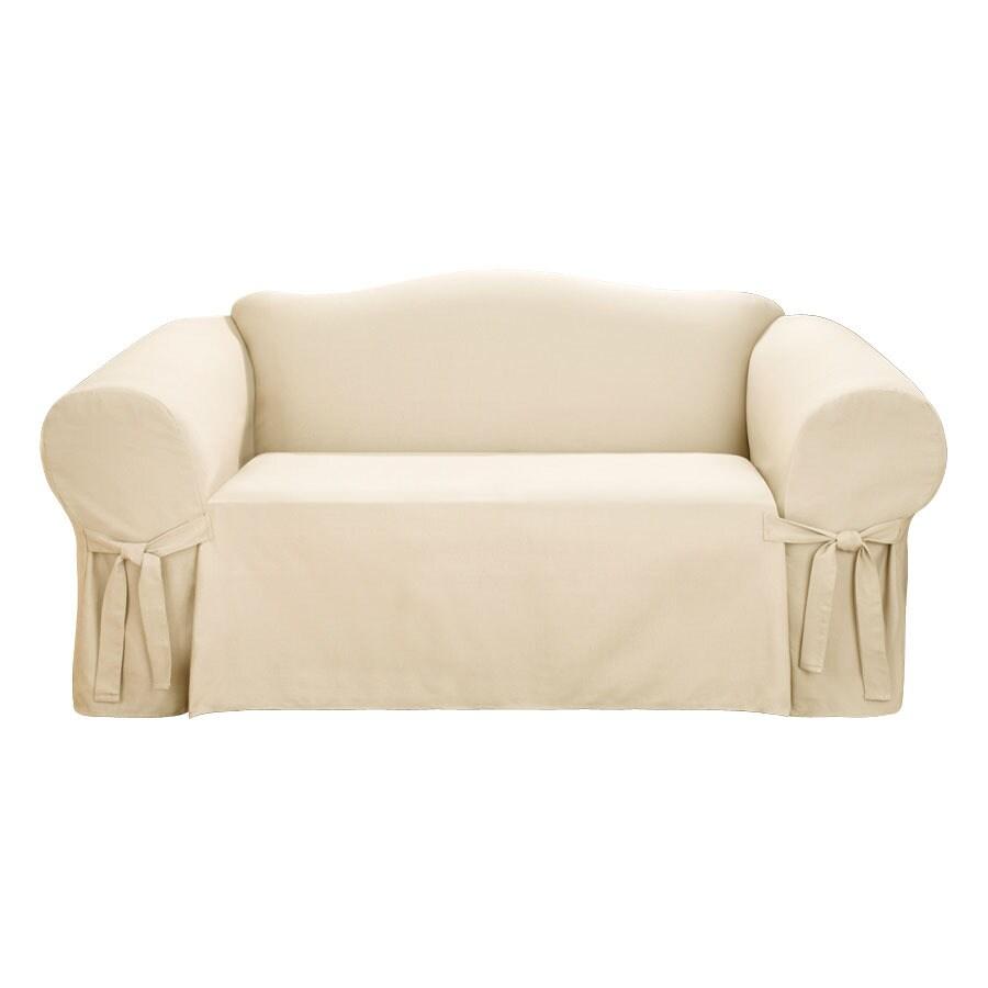 Shop Logan Natural Corduroy Sofa Slipcover At