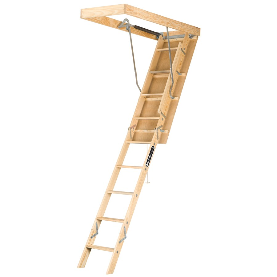 Louisville Premium 8-ft to 10-ft Type I Wood Attic Ladder