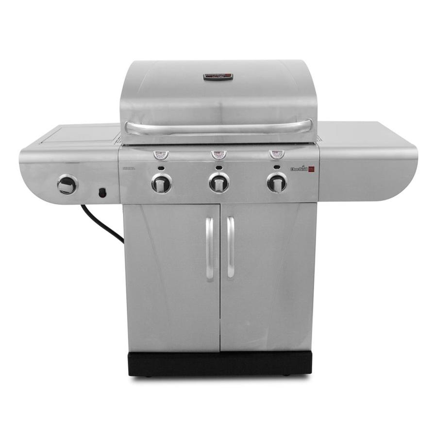 Char-Broil Commercial Stainless Steel 3-Burner (30,000-BTU) Liquid Propane Infrared Burner Gas Grill with Side Burner