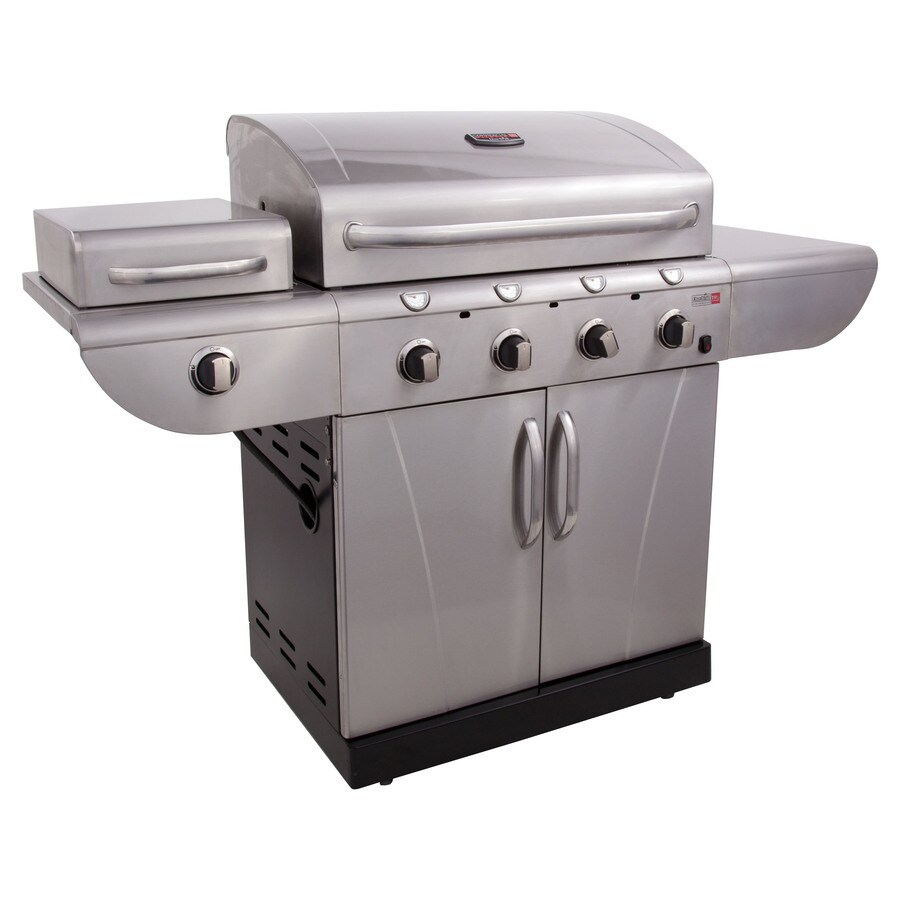 Char-Broil TRU-Infrared Commercial 4-Burner (36000 BTU) Liquid Propane Gas Grill with Side Burner