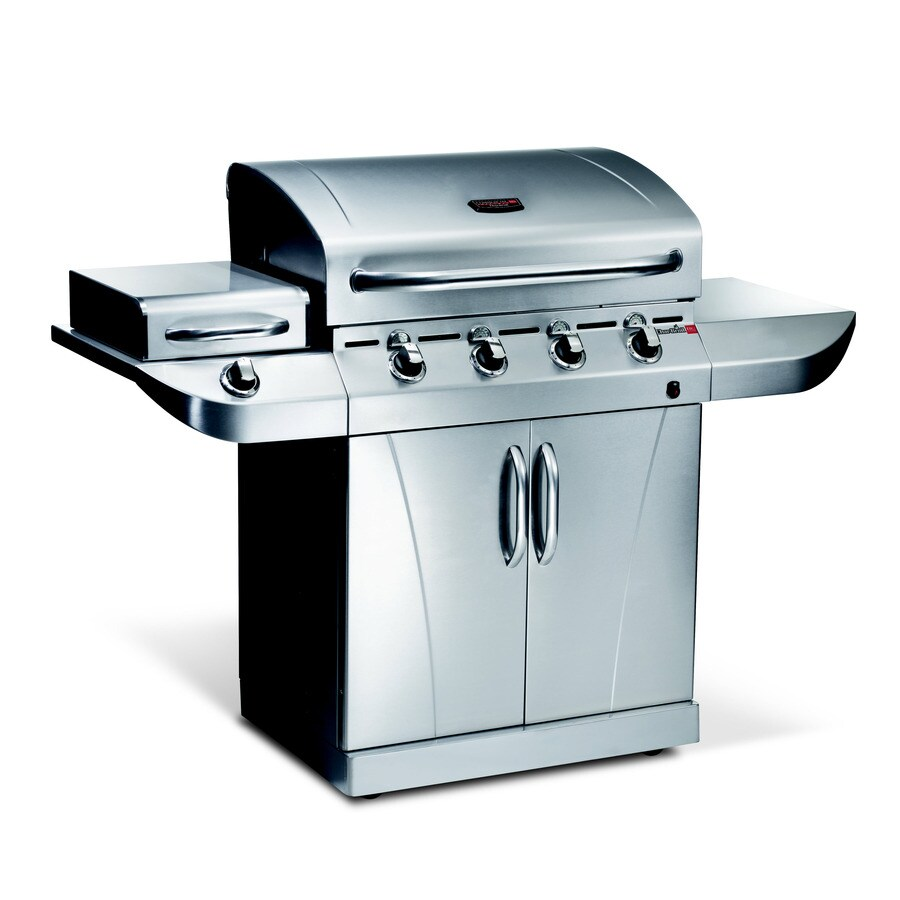 Char-Broil TRU-Infrared Commercial 4-Burner (40000 BTU) Liquid Propane and Natural Gas Grill with Side Burner