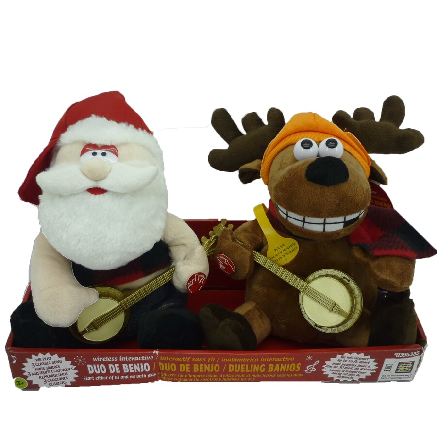 Holiday Living Christmas 2-Pack Polyester Musical Dueling Banjos