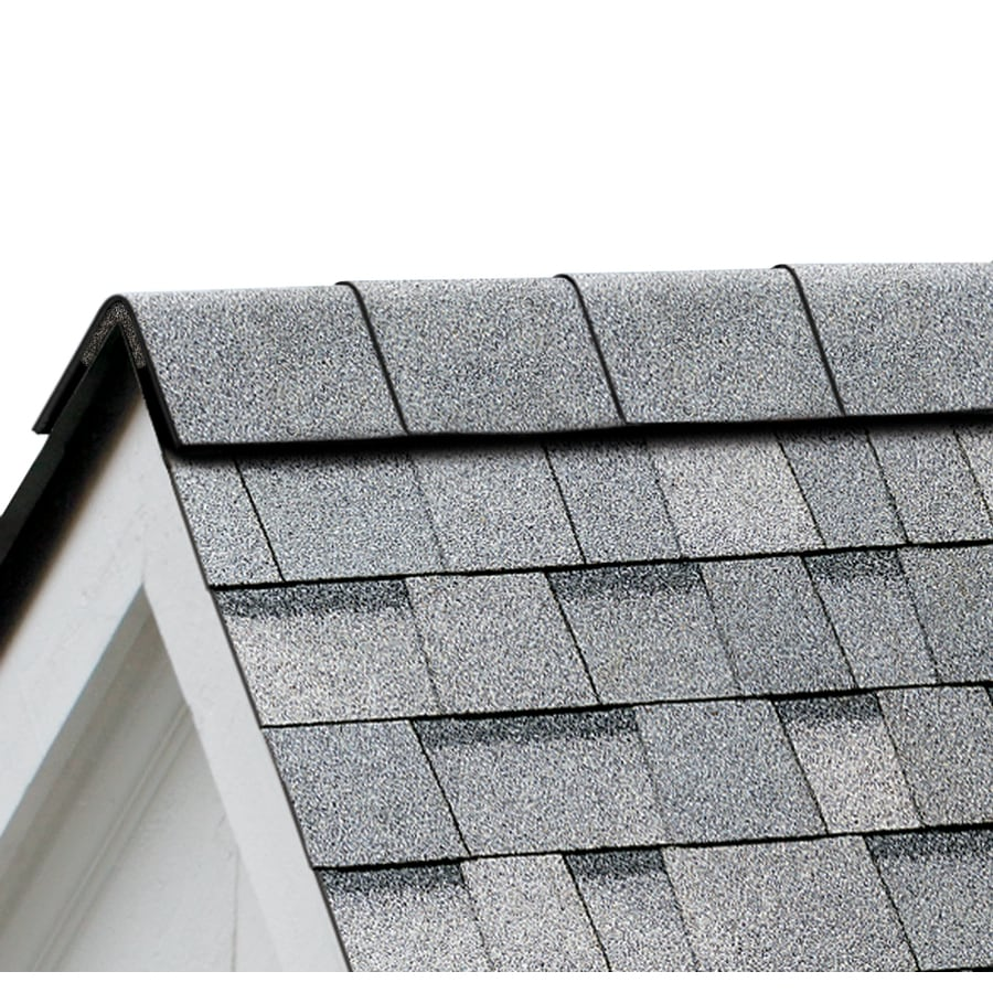 Owens Corning Perforated 33.75-lin ft Antique Silver Hip and Ridge Roof Shingles
