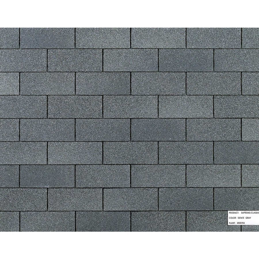 Owens Corning 25-Year Supreme Estate Gray AR 3-Tab Shingles