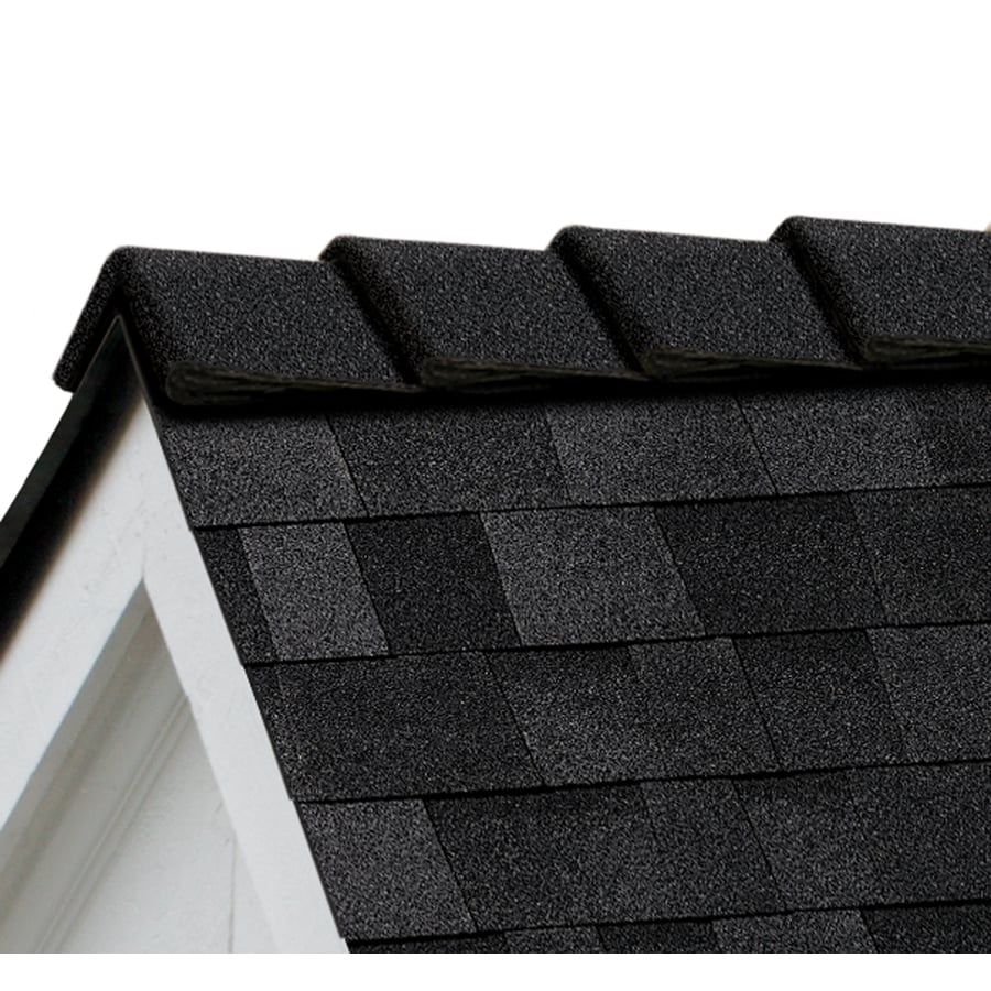 Shop Owens Corning Decoridge 20 Lin Ft Onyx Black Hip And