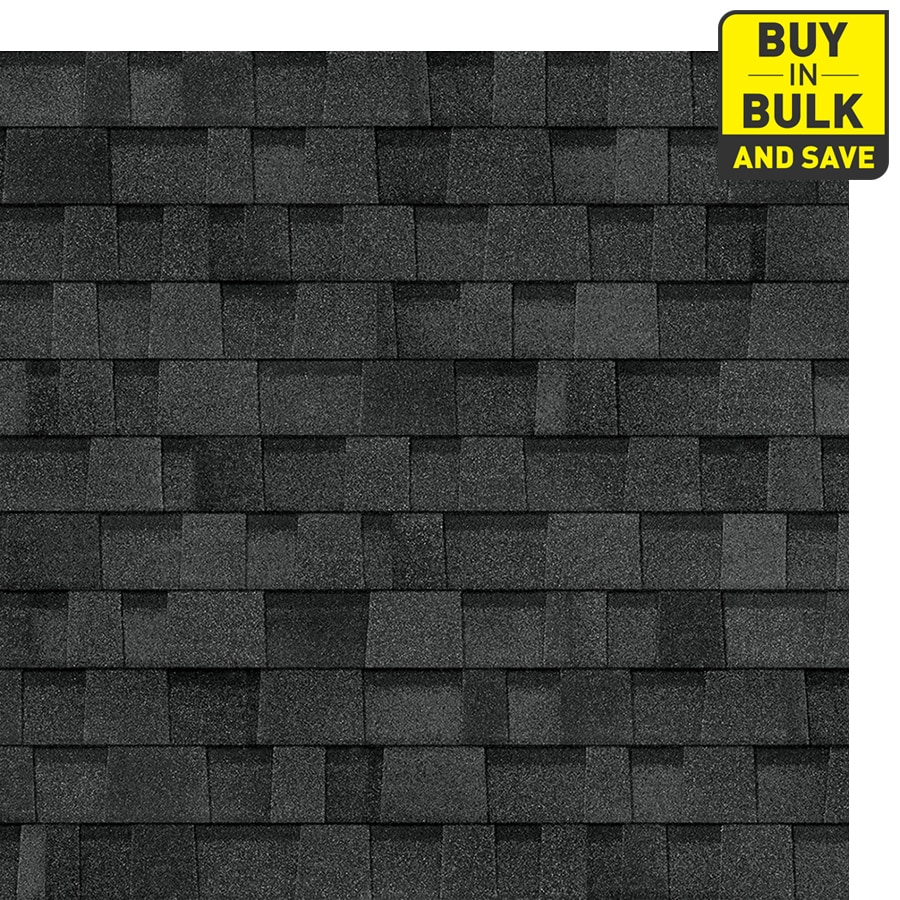 Owens Corning Oakridge 32.8-sq ft Artisan Twilight Black Laminated Architectural Roof Shingles