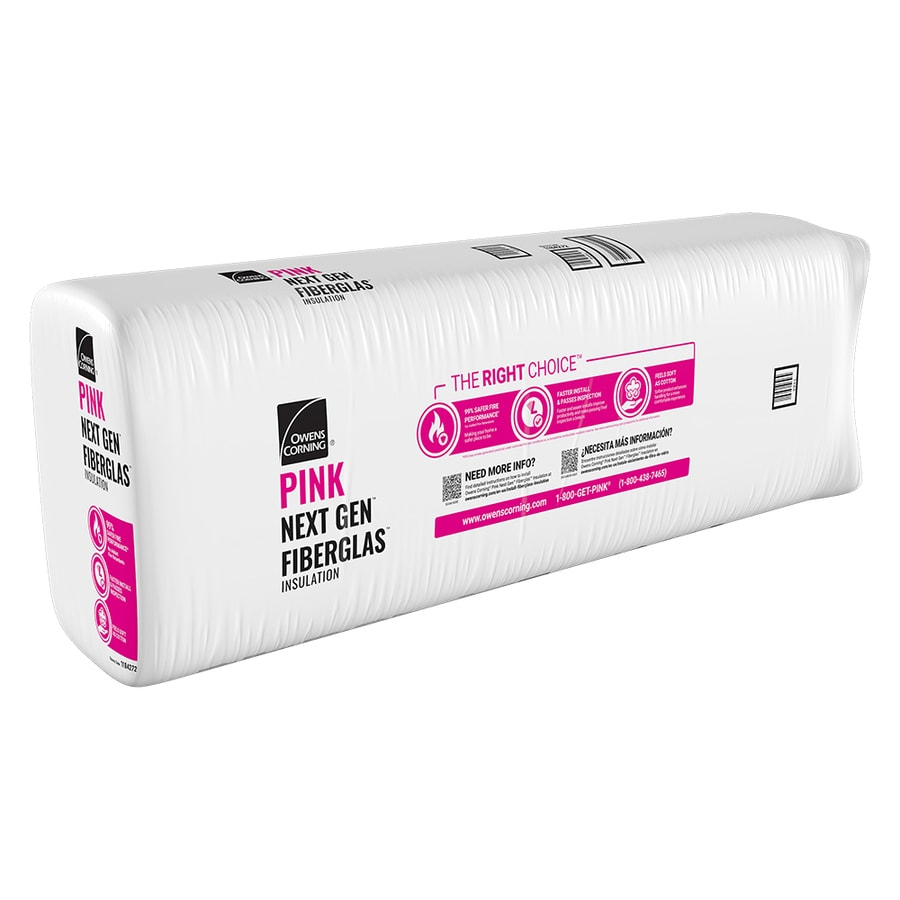 Owens Corning R20 77.5-sq ft Faced Fiberglass Batt Insulation with Sound Barrier (15-in W x 93-in L)