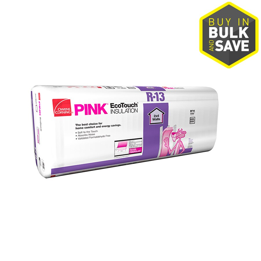 Owens Corning R13 148.54-sq ft Faced Fiberglass Batt Insulation with Sound Barrier (23-in W x 93-in L)
