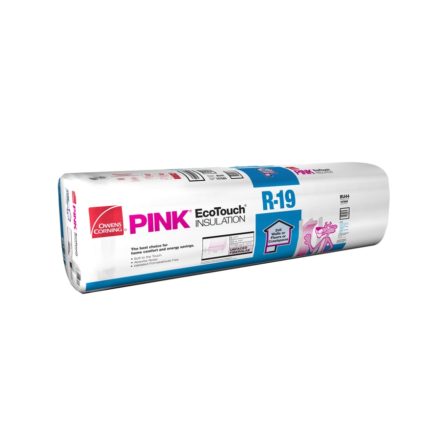 Shop owens corning r19 77 5 sq ft unfaced fiberglass batt for Sound fiberglass insulation