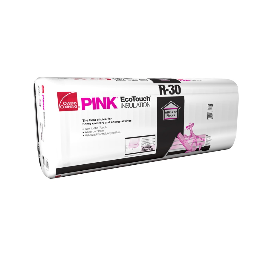 Owens Corning R30 80-sq ft Unfaced Fiberglass Batt Insulation with Sound Barrier (24-in W x 48-in L)