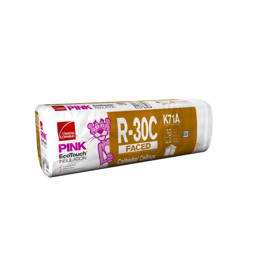Owens Corning R30 56.83-sq ft Faced Fiberglass Batt Insulation with Sound Barrier (15.5-in W x 48-in L)