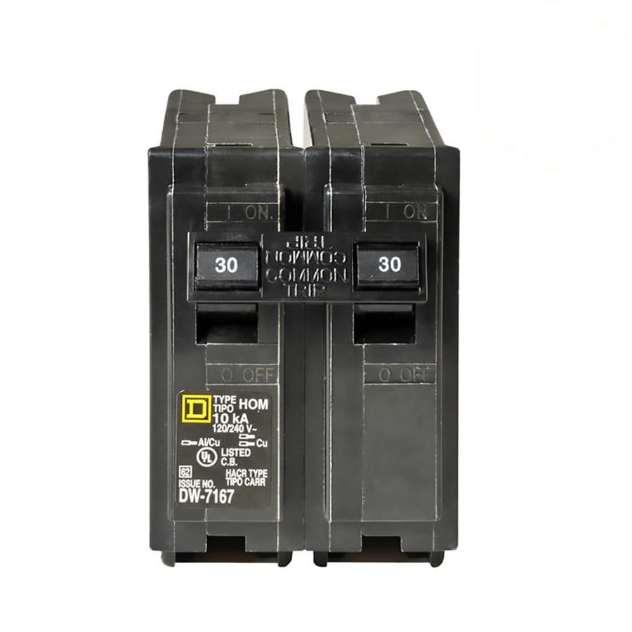 Square D Homeline 30-Amp 2-Pole Double-Pole Circuit Breaker