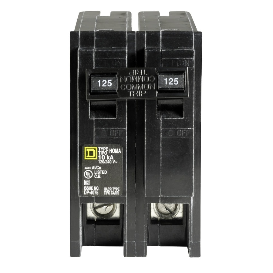 Square D Homeline 125-Amp 2-Pole Circuit Breaker