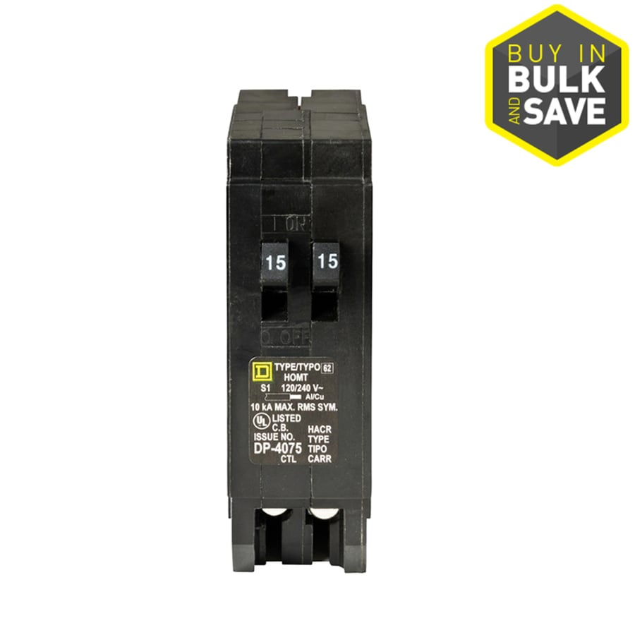 Square D Homeline 15-Amp 1-Pole Tandem Circuit Breaker