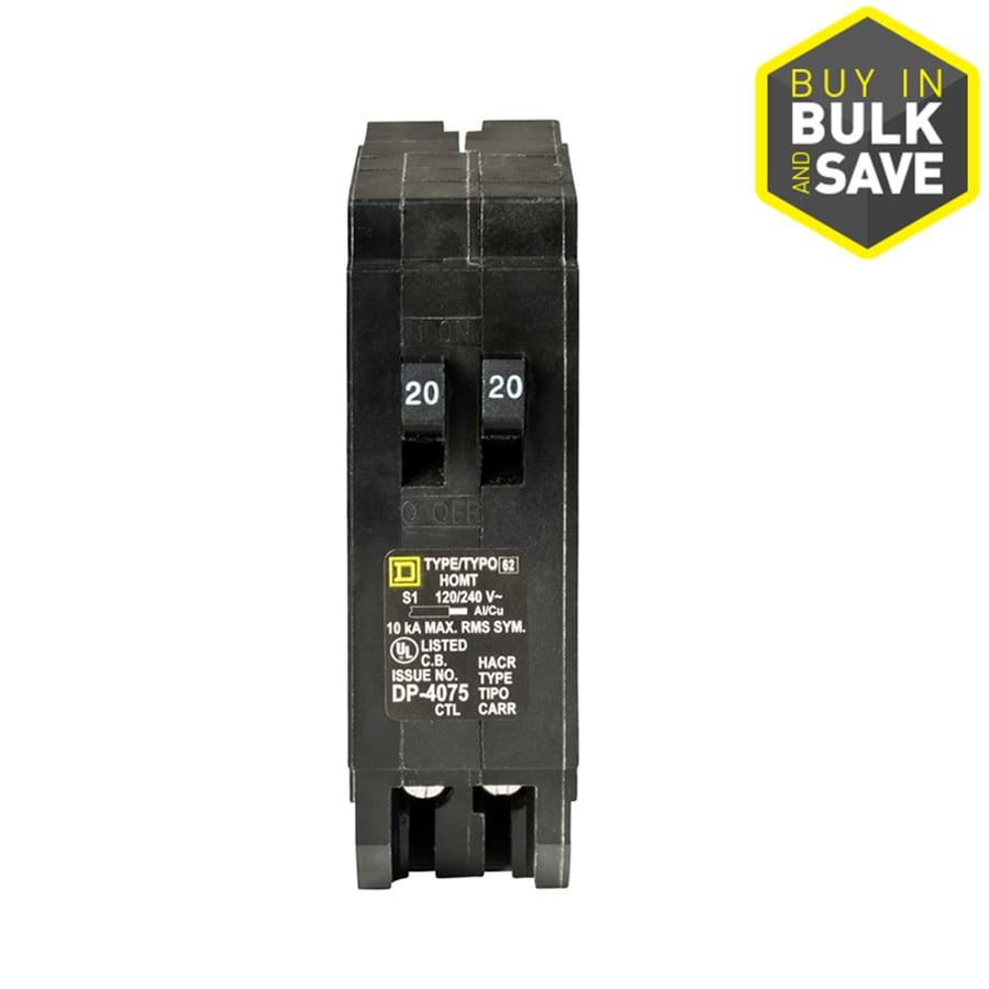 Square D Homeline 20-Amp 1-Pole Tandem Circuit Breaker