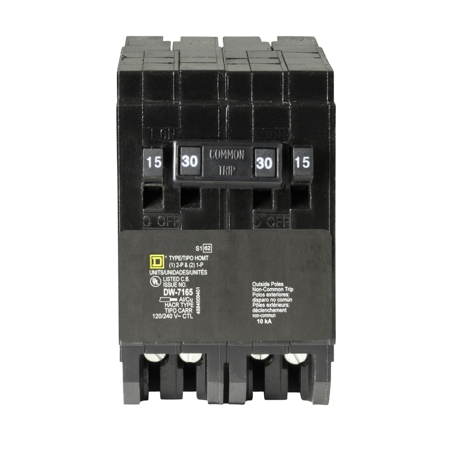 Square D Homeline 30-Amp 2-Pole Quad Circuit Breaker