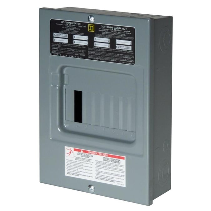 Square D Qo 100 Amp 6 Spaces 12 Circuit Main Lug Load Center In The Breaker Boxes Department At Lowes Com