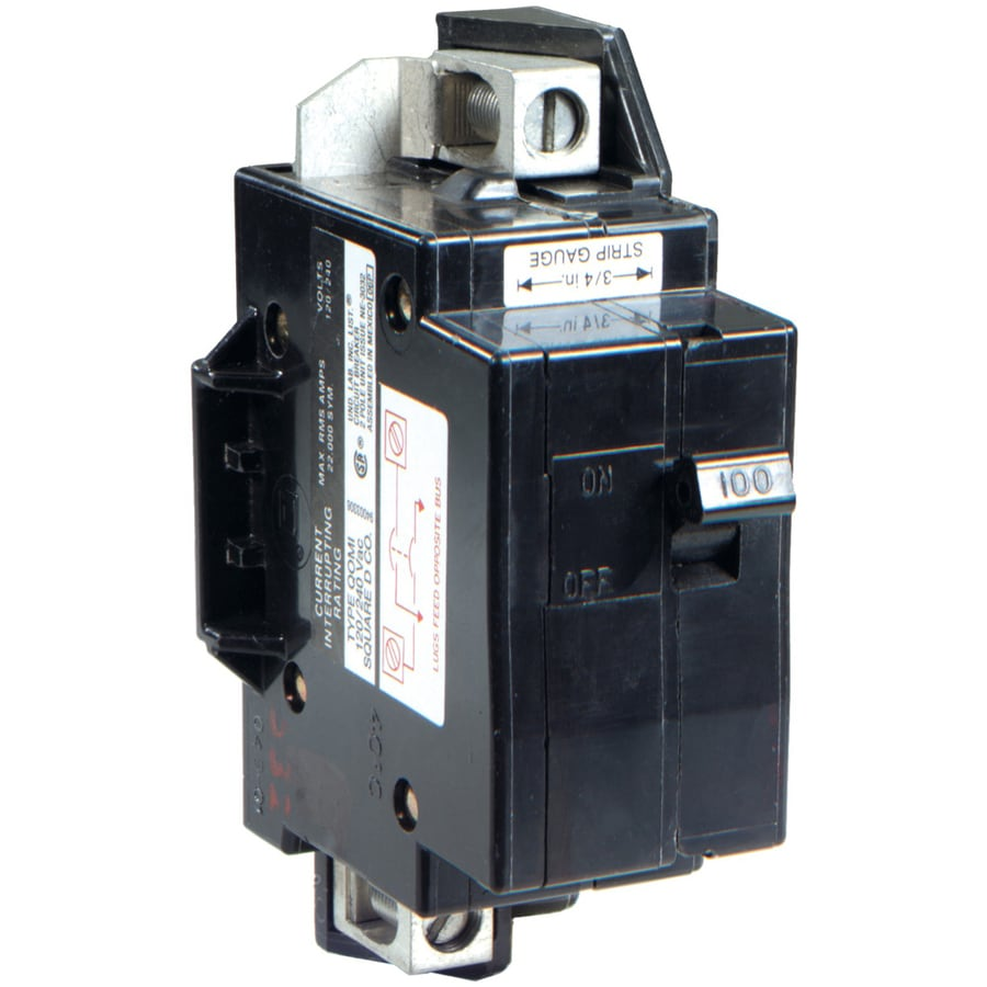 Shop Square D Qo 100 Amp 1 Pole Circuit Breaker At Lowes Com