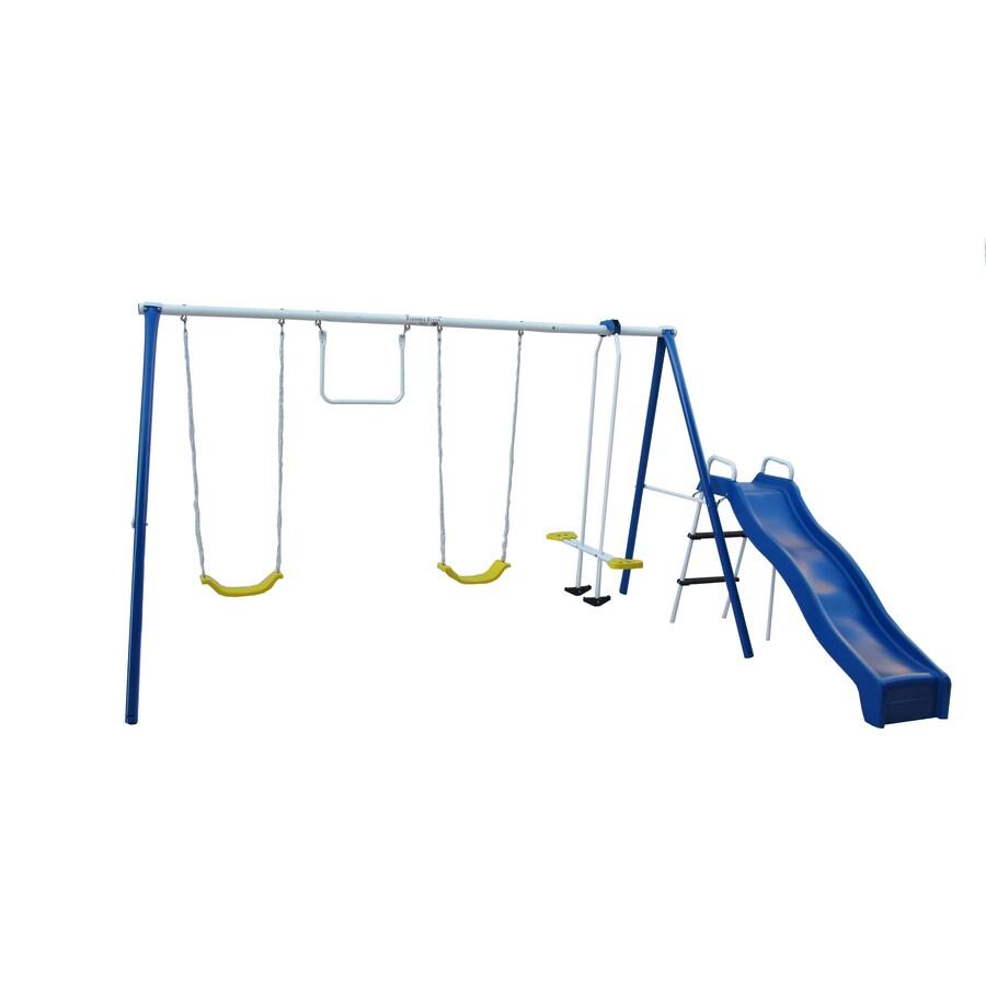 FLEXIBLE FLYER Swing N Fun Residential Metal Playset with Swings