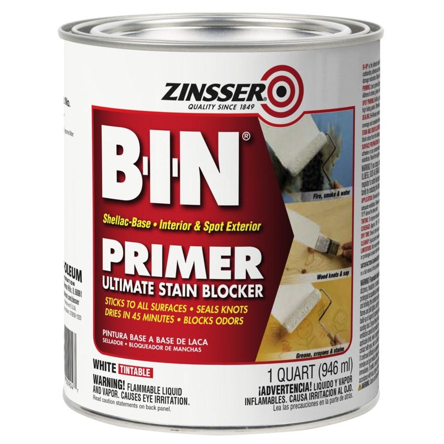 Zinsser BIN Interior Shellac Primer (Actual Net Contents: 128-fl oz)
