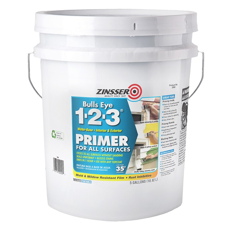 Bulls Eye Bulls Eye 1-2-3 Primer-Sealer Stain-Killer Interior Latex Primer (Actual Net Contents: 640-fl oz)